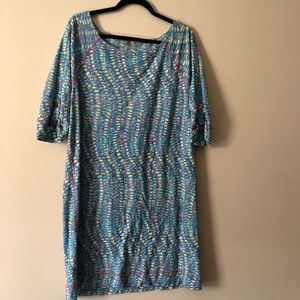 Lilly Pulitzer Blue and Pink Cassie Dress